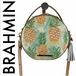 BRAHMIN NWT PINEAPPLE CREAM GOLD TAN CROSSBODY BAG